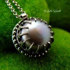 Naszyjnik Platinium Pearl - Perła Srebro