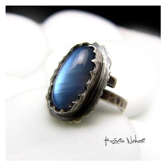Pierścień Blue Moon - Moonstone Srebro