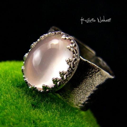 Pierścień Rose – Gaia - Rose Kwarc Srebro
