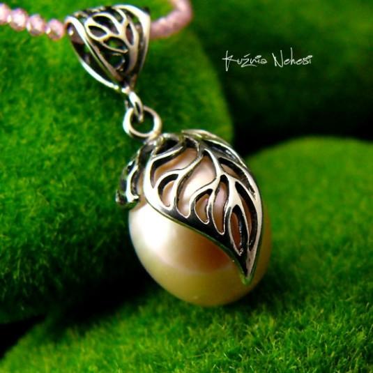 Naszyjnik z rózową Perłą - Srebro Perła