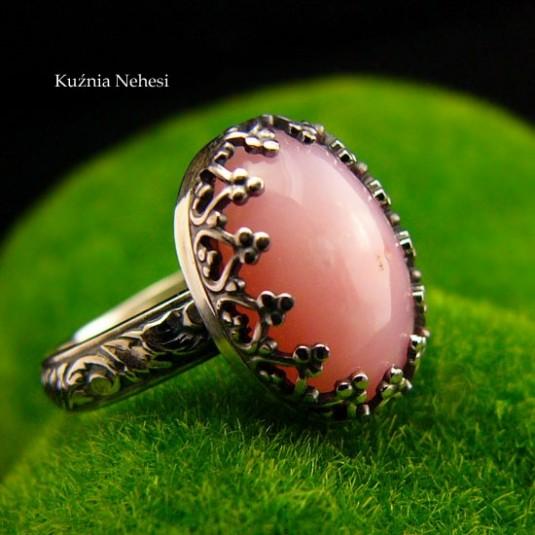 Pierścień Elf - Opal Peruwiański Srebro