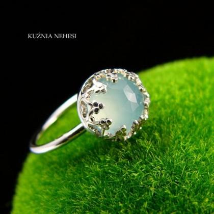 Pierścień – Lea – Chalcedon Srebro