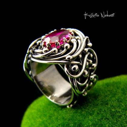 Pierścień Lúthien - Topaz Srebro
