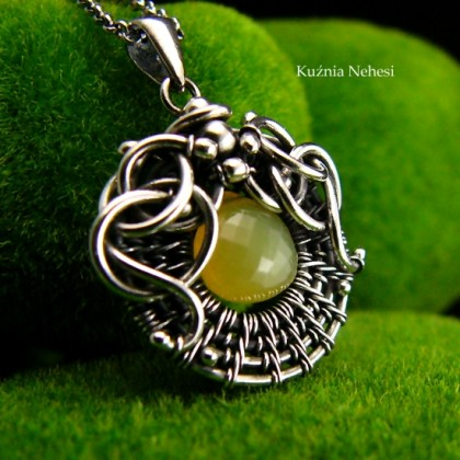 Naszyjnik Sun - Opal Srebro