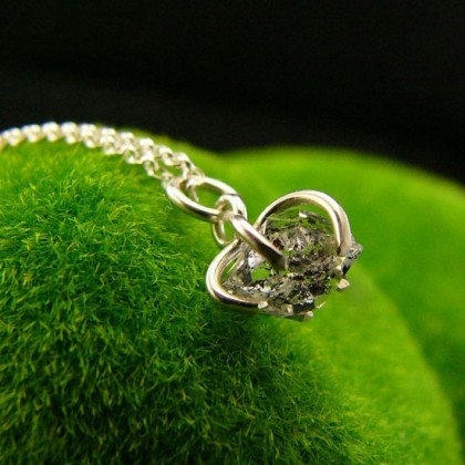 Naszyjnik od Matki Natury - Diament Herkimer Srebro
