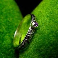 Pierścień - Purple - Ametyst Srebro