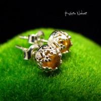 Kolczyki - Lea - Mini - Cytryn Srebro