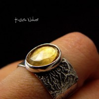 Pierścień Sun – Cytryn Srebro