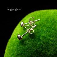 Kolczyki Kropeczki Sztyfty - Spinel Srebro