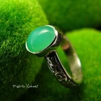 Pierścień Pasmai - Srebro Chryzopraz
