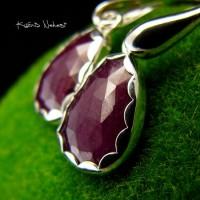 Kolczyki Cherry Ruby - Rubin Srebro