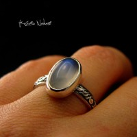 Pierścień Moon - Moonstone Srebro