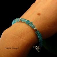 Bransoleta - Blue- Srebro Apatyt