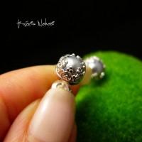 Kolczyki Drobiny - Platynowe Perły Srebro