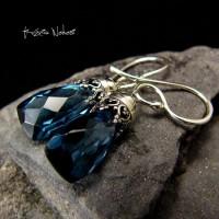 Kolczyki Bali Bali - Kwarc London Blue Srebro