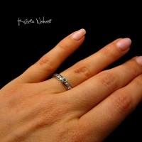 Pierścień z Topazem Sky Blue - Topaz Srebro