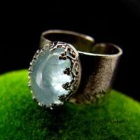 Pierścień ze Srebra z Akwamarynem- Sky – Gaia – Akwamaryn Srebro P27