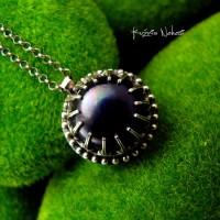 Naszyjnik Black Pearl - Perła Srebro