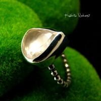 Pierścień Rose Gaia - Różowy Kwarc Srebro