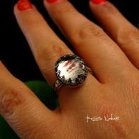 Pierścień ze Srebra -Elf z Kwarcem Turskawkowym