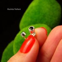 Kolczyki ze Spinelem - Kropeczki - Srebro Spinel