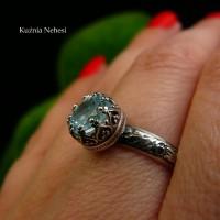 Pierścień Elf - Topaz Baby Blue Srebro