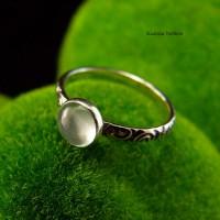 Pierścień ze Srebra - Elfik z Akwamarynem