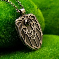 Naszyjnik Diamentowy Lew - Diament Srebro