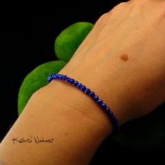 Bransoleta - Inkl - Srebro Lapis Lazuli