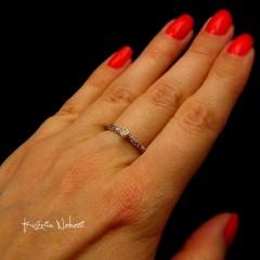 PIERŚCIEŃ – GOLD DIAMOND ELVES - DIAMENT SREBRO