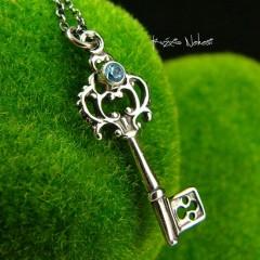 Naszyjnik Key - Topaz Sky Blue Srebro