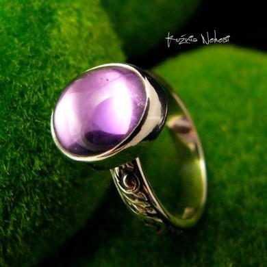Pierścień ze Srebra - Elf z Ametystem