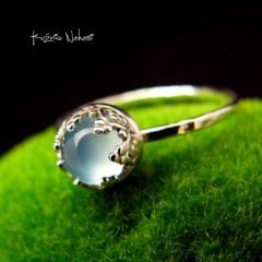 Pierścień - Serenity - Agat Srebro