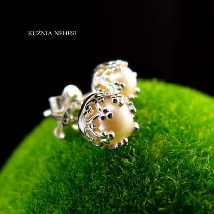 Kolczyki Drobiny - Perły Srebro