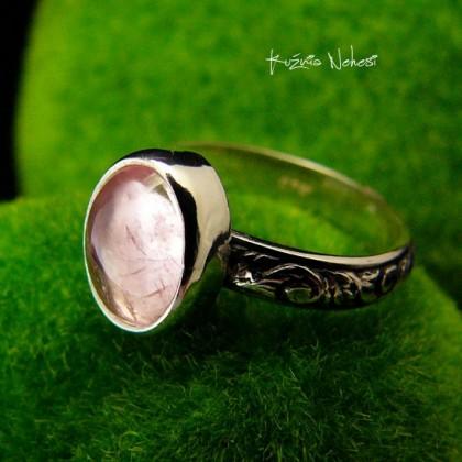 Pierścień ze Srebra - Elf z Kunzytem Srebro ~