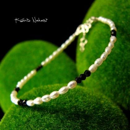 Bransoleta - Pearl - Srebro