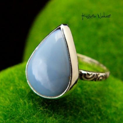 Pierścień ze Srebra - Elfik z Opalem Blue