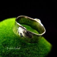 Pierścień – Gaia - Srebro Iolit