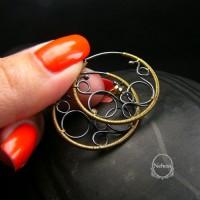 Kolczyki Goldes - Koła - Srebro Piryt