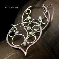 Miriel kolczyki - Opal Etiopski Srebro