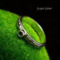 Pierścień London Blue - Topaz Srebro