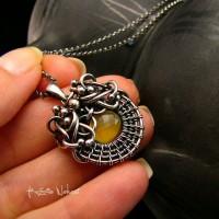 Naszyjnik Yellow – Opal Agat Srebro