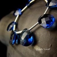 Kolczyki Dragony - Srebro Kwarc London Blue