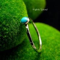 Pierścień Drobinek - Turkus Srebro