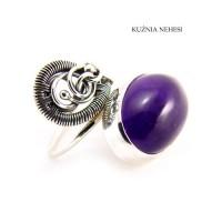 Pierścień Purple – Ametyst Srebro