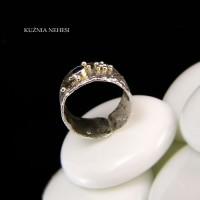 Pierścień Gaia – Szafir Srebro