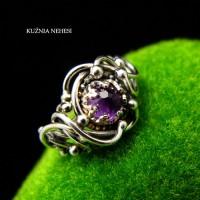 Pierścień Elrund – Srebro Ametyst