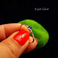Pierścień Drobinek - Iolit Srebro