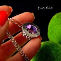 Naszyjnik Purple - Ametyst Srebro
