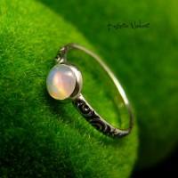 Pierścień ze Srebra - Elfik z Opalem Etiopskim
